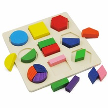 Wooden Puzzle Kids Baby Toys Learning Geometry Interesting Children Educational Toys for Kid Wooden Puzzles Play Games Fun Tools