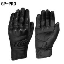 New Black Original GP PRO Fly Racing Motorcycle Gloves Genuine Leather Motorbike Gloves MotoGP M1 Road Racing Team Short Gloves