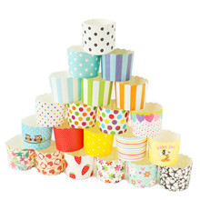 Cupcake Baking Cups Cartoon Cupcake Wrapper Liner Paper Muffin Cases Cake box Cup Tray Cake Mold Decorating Tools 50 Counts