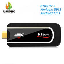 H96 Pro KODI 17.3 4K Mini PC Smart TV Dongle Android 7.1.1 Amlogic S912 2GB/8GB WIFI Bluetooth 4.1 HEVC H.265 Decoding VP9 HDR