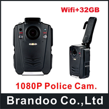 32GB Ambarella A12 Super HD 1080P Police Body Worn Camera with WIFI function, IR Light Recording at Least 12 Hours