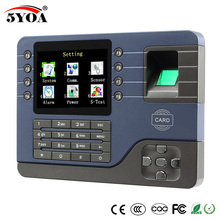 TCP IP Biometric Fingerprint Time Attendance Clock Recorder Employee Digital Electronic English Reader Machine USB RFID ID Card
