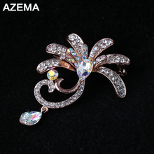 2018 New Fashion Style Special Gift For Women Made Of Alloy Rhinestone Inlay Beautiful Brooch For Girls Low Prices XZ-3(China)