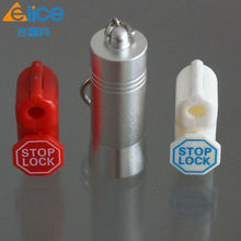 2016 Hot selling 100pcs retail loss prevention red 6 mm display security EAS stoplock/ EAS Hook Stop Lock +1 pcs Detachers