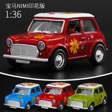 Hot sale 1:36 alloy pull back model Mini car,Cartoon Q version cars,metal models,Sound and light toy bus,free shipping