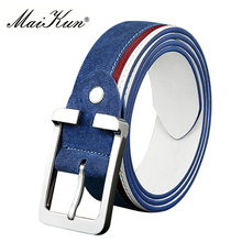 Newest Luxury Suede Leather Belts for Men Belt Metal Pin Buckle Belt for Casual Jeans High Quality Brand Male Strap 4 Colors(China)