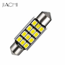 JIACHI 100 x Bright Quality Products 12volt Led C5W 39mm 12smd 2835 Festoon CANBUS Led Navigation Bulbs(China)