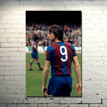 Johan Cruyff Football Legend Art Silk Poster 13x20 inch Netherlands Soccer Star Pictures for Living Room Decor 001(China)