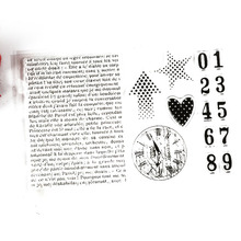 Eco-friendly Transparent Stamp Arabic numerals Watch article For DIY Scrapbooking/Card Making/ Decoration Supplies