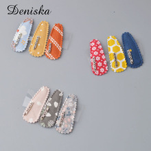 3 pieces Goody Snap Hair Clips, Girl Printing Snap Hair Clips Metal Hair Clip Barrettes for Girls with Patterns