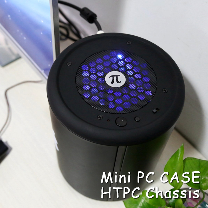 Hot Sale Dust Man Mini ITX Computer PC Case Small Mini HTPC Desktop Chassis Round Case Free cooler(China (Mainland))