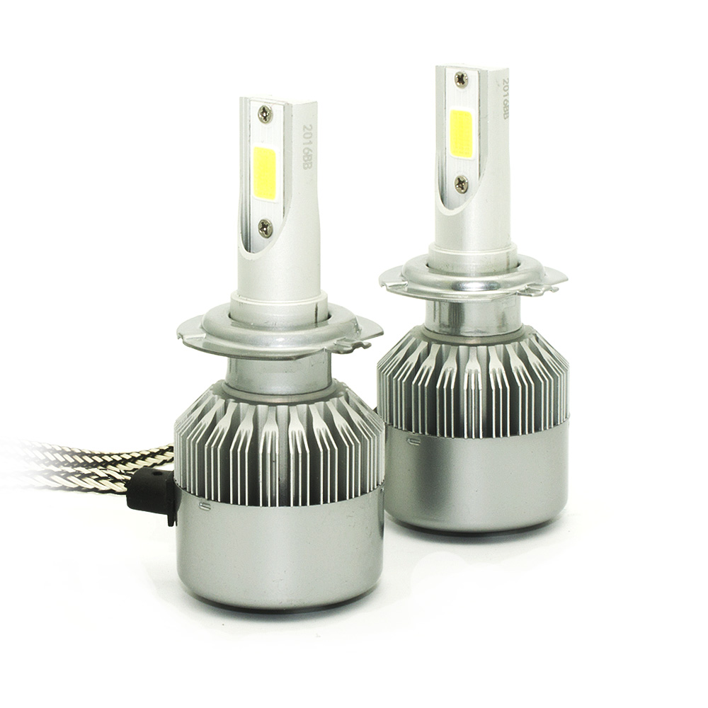 2pcs/Set LED Headlight headlamp Super Brighter H4 HI/LO H7 H8 H9 H11 9006 9005 H1 H3 Car 3800lm 9-30V bulb light lamps<br><br>Aliexpress