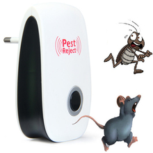 Electronic Ultrasonic Pest Mouse Repellent Anti Mosquito Repeller Killer Machine Pest Reject Insect Rodent Control EU/US Plug(China)