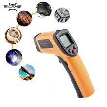 2016 GM320 Non-Contact Laser LCD Display IR Infrared Digital C/F Selection Surface Temperature Thermometer For Industry Home Us