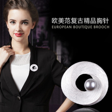 In Stock Romantic Women Round Brooch With One Imitation Pearl Free DHL/EMS Delivery Order $100+