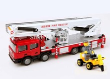 Free shipping hot selling new fashion Alloy fire engine fire truck ladder 40cm car model toy children gift