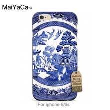 Black tpu silicone blue willow china Unique Design Newest The Fashion phone case For case iPhone   5s 6s 6splus 7 7plus