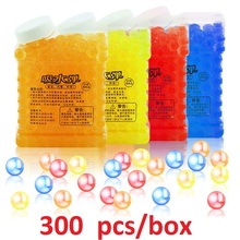 Free Shipping 300pcs/box Colorful Crystal Bullet Soft Water Gun Paintball Bullet Bibulous Bullet Toy Accessories Most Pistol(China)