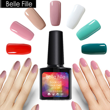 10ml UV Gel Nail Polish Nude Pink Red Green White Color LED Gel For Nails Soak Off Gel Varnish Vernis Semi Permanent Nagellak