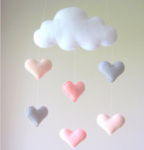 Ice CreamColor Stroller Accessories Felt Clouds Pendant  Cot Crib Game Tent Pendant Jewelry Baby Room Wall Decorations