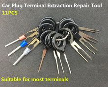 11 pcs Auto Car Plug Circuit Board Wire Harness Terminal Extraction Pick Connector Crimp Pin Back Needle Remove Tool Set(China)