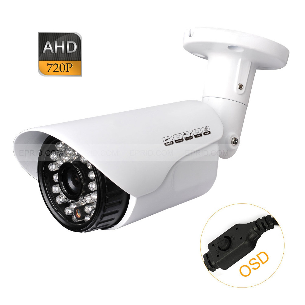 AHD 1.0MP 720P HD CCTV Bullet Security Camera Outdoor 24IR 3.6mm Lens OSD<br>