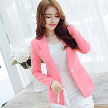 Blaser Promotion Sale Full Jaqueta Feminina Blazer Feminino 2017 Couture Small Suit Female Fashion Sleeved Jacket Temperament