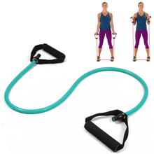 yoga fitness equipment resistance exercise band tubes stretch workout pilates green for wholesale and free shipping kylin sport(China)