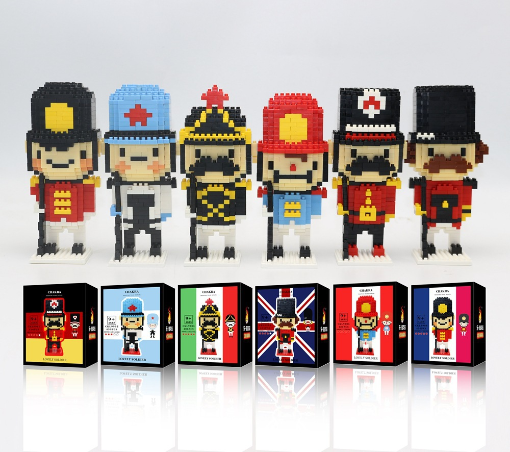 6pcs/set Educational Building Block The Nutcracker Cartoon Models DIY Blocks Toys Navy Officer soldiers figure New Year Gift<br><br>Aliexpress