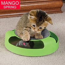 2017 Pet Cat Motion Moving Mouse Toy Funny Faux Mouse Play Toys Interactive Cats Training Scratchpad Catch Board New