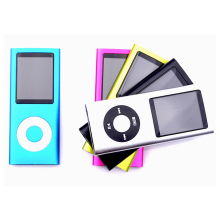 Hot Selling Slim MP3 MP4 Music Player 1.8 inch LCD Screen FM Radio Video Player with 9 Color Availabe no memory