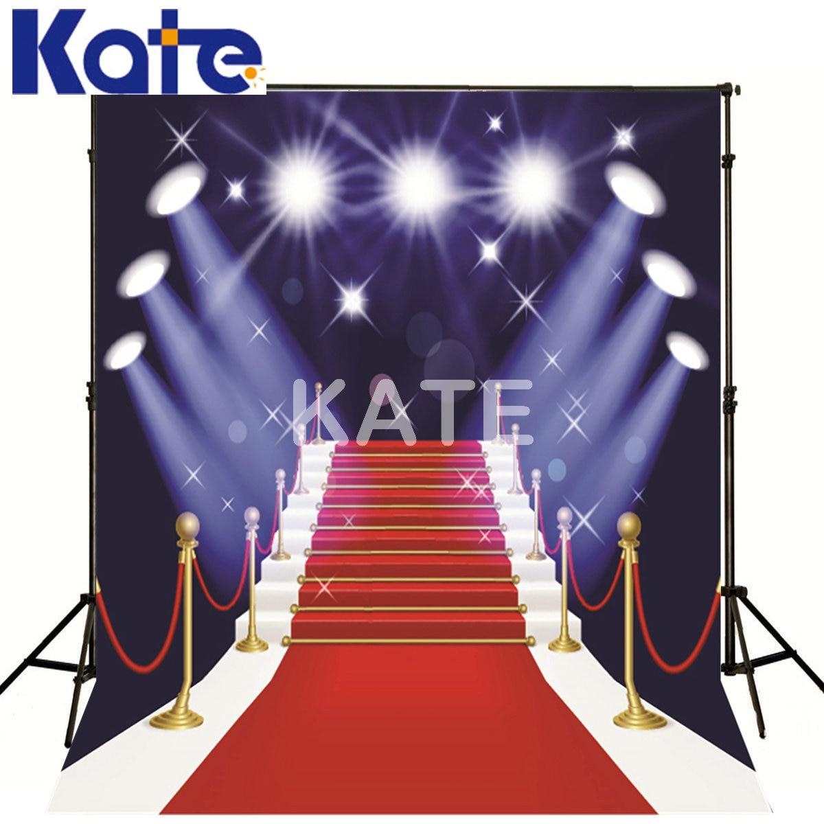 Kate Photo Studio Backdrop Red Carpet Ladder Stage Lighting Kate Background Wedding<br>