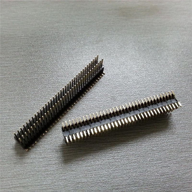 2.54 curved needle double row connector spacing of 2.5 mm 2 * 40 p<br>