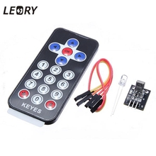LEORY Infrared Wireless Remote Control IR Receiver Module DIY Kit HX1838 For Arduino Raspberry Pi MP3 MP4