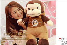 large 60cm suspenders monkey plush toy birthday gift s0856(China)