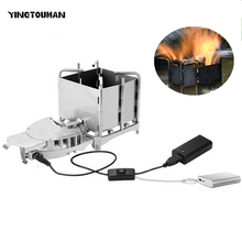 New Arrival Brs-116 Outdoor Camping Picnic Wood-burning Stove Foldable Portable Firewood Furnace Bbq Barbecue Grill(China)