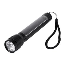 1pc Alloy Aluminium Tactical Flashlight Solar Powered Flash Light 7 LED Super Bright 18650 Torchlight For Outdoor Camping Hiking