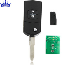 2 Buttons Folding Flip Remote Key 433MHZ with 4D63 Chip Keyless Entry For Mazda 5 M5(China)