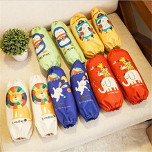 1 Pair Cartoon Animal Pattern Dustproof Oven Sleeve Cotton&Linen Winter Coats Cuff Oversleeves Cleaning Baking For Adult Kid