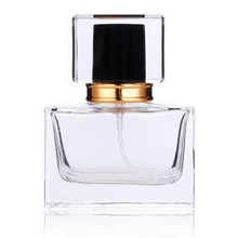 60pcs/lot High Quality 30ml Square Glass Perfume Bottle Clear Glass Spray Bottle Empty Fragrance Packaging Bottle Refillable