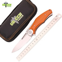 Green thorn Dark Flipper folding knife D2 blade G10 titanium handle outdoor survival hunting camping fruit knive pocket EDC tool(China)