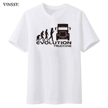 Brand Clothing EVOLUTION TRUCKING truck driver cab gift ideas Funny T Shirt Men Short Sleeve(China)