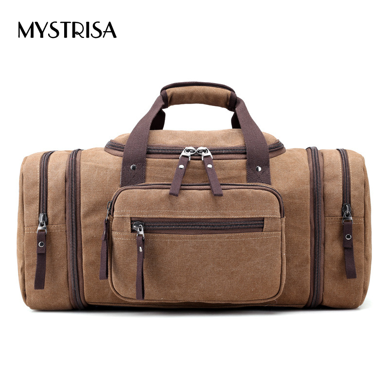 M0136 Canvas men Travel Bags Carry on Luggage Bags Men Duffel Travel Tote Large Weekend Bag Overnight high Capacity shoulder Bag<br>
