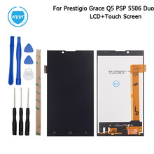 For Prestigio Grace Q5 PSP5506 Duo LCD Display + Touch Screen 5inch Original Screen Digitizer Assembly Replacement+Tool+Adhesive