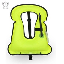 Unisex Adult Portable Inflatable Canvas Life Jacket Snorkel Vest for Diving Safety Buoyancy Vest Diving Equipment ZH(China)