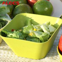 Brand Outdoor Camping Brand Picnic Square Green Salad Bowl Bamboo Products Tw-410
