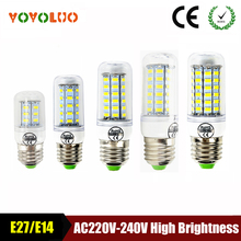 Led bulb Corn bulb E27 Led Lamps E14 5730 220V 230V 24led 36led 48led 56led 69led LED bulb Christmas Chandelier Candle Lighting(China)