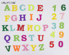 CMCYILING English Letter Alphabet Felt Patche 0-9 Number Polyester Patches For Child Enlightenment Education Sewing Handmade