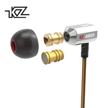 Original KZ ED9 Super Bass In Ear Music Earphone With DJ Earphones HIFI Stereo Earbuds Noise Isolating Sport Earphones With Mic(China)