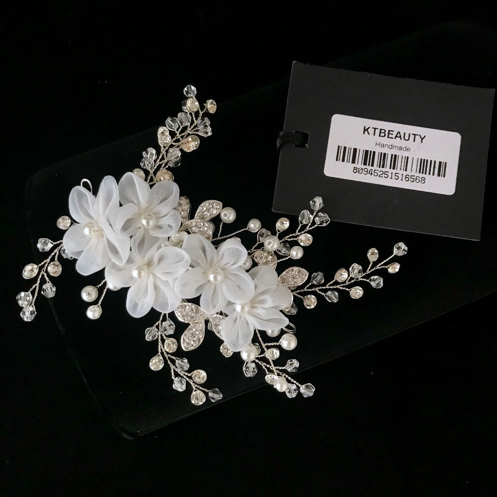 New Luxury Crystal Flowers Bridal Headband Gorgeous Bridal Hairpin Jewelry Royal Bridal Wedding Hair Accessories Women Jewelry